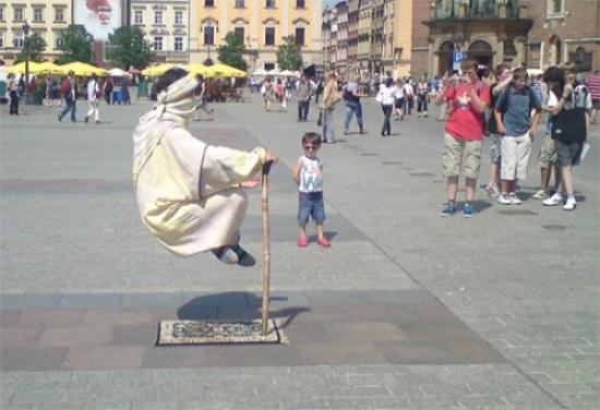 Yogic flying as street magic